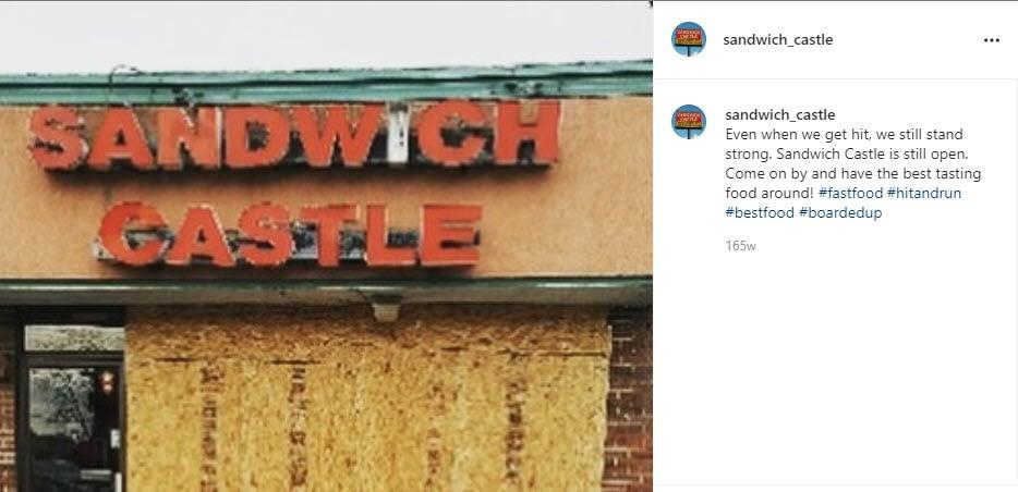 Sandwich Castle Sign